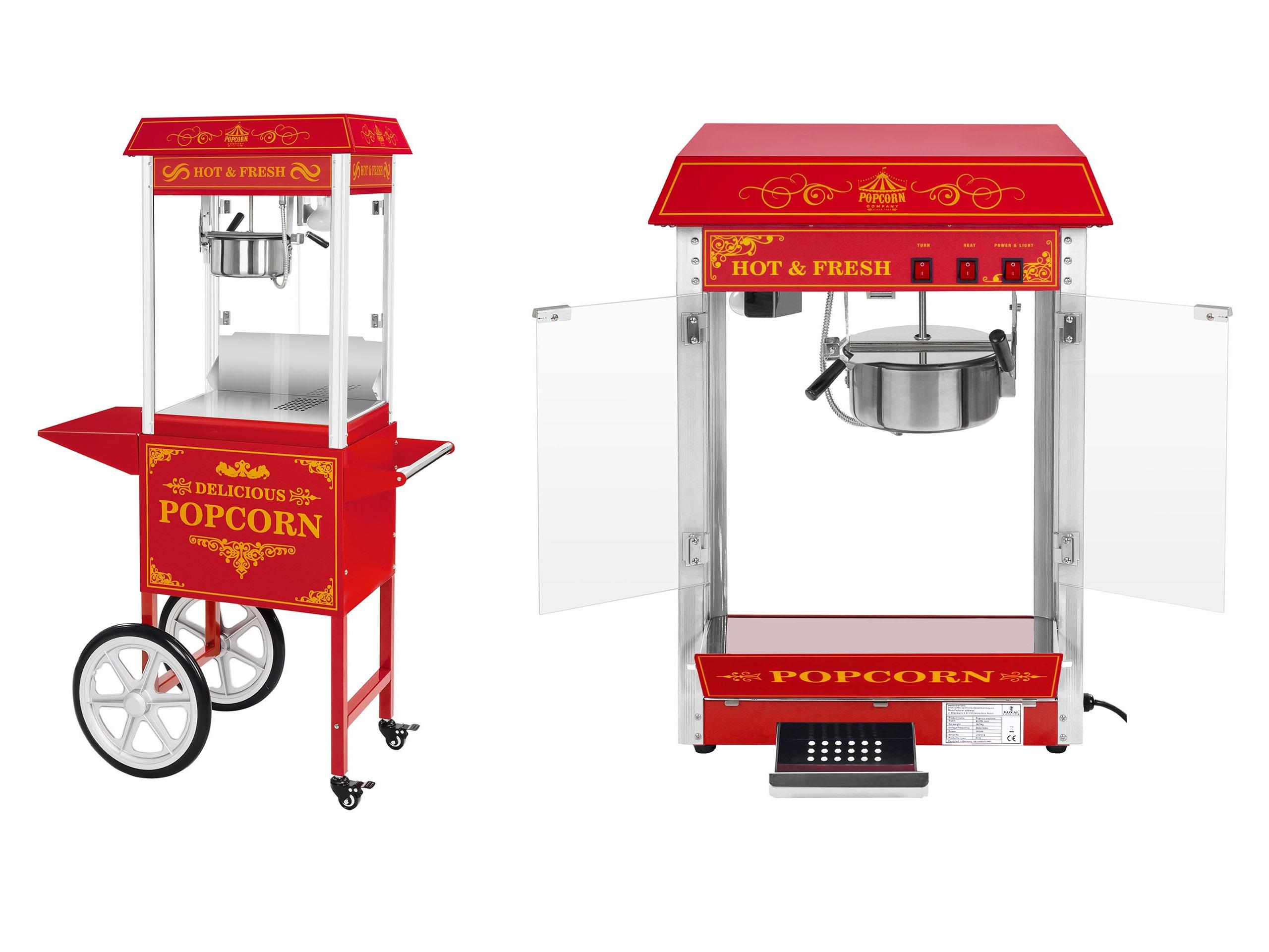 Profesionálny stroj pre popcorn Trolley 6kg / h