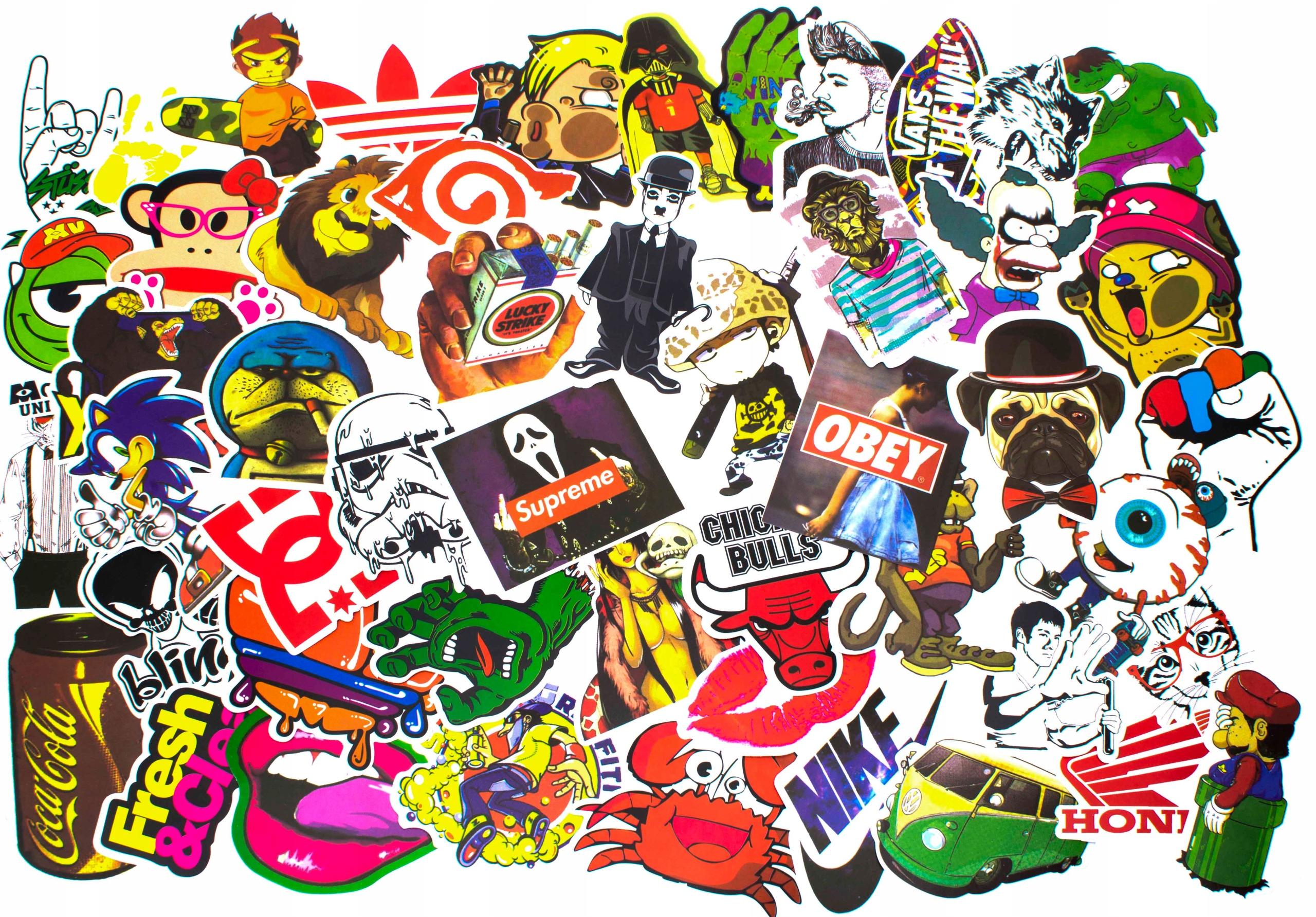 Много стикеров в одной картинке цветные