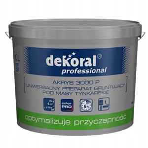 Dekoral Professional Akrys P - Grunt pod tynk 10L