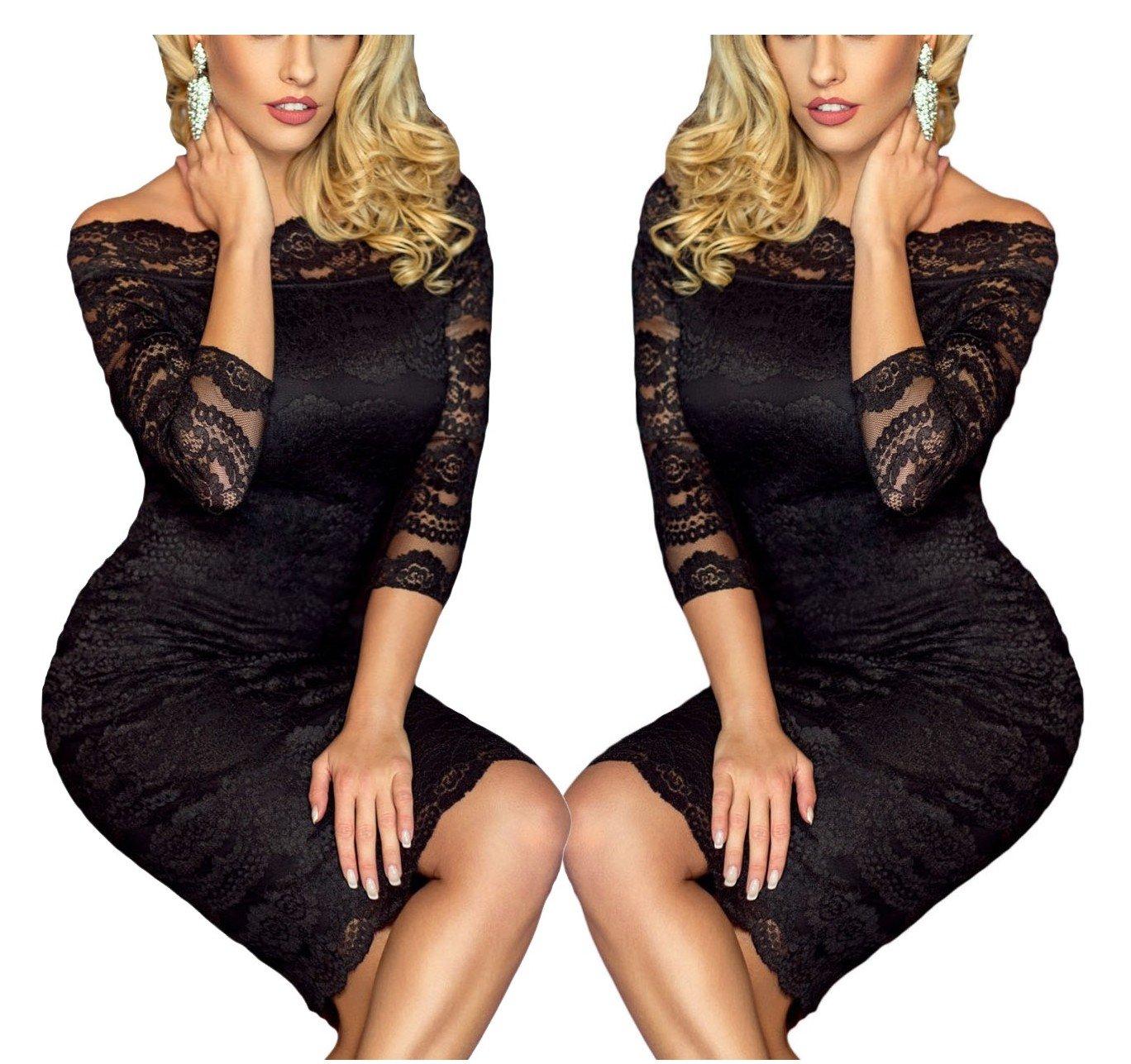 524add9d30 Sukienka koronkowa duże rozmiary 1291 czarna tu 42 7079890468 - Allegro.pl