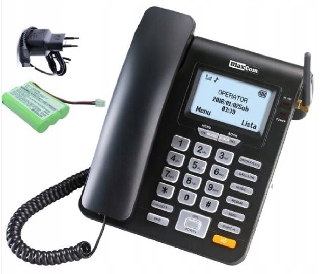 Item LANDLINE PHONE TO THE SIM CARD MAXCOM MM28D