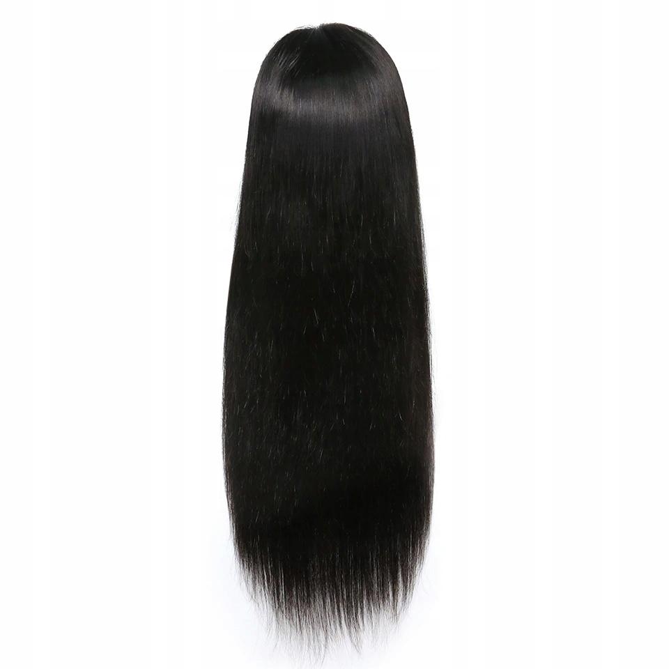 Длинный прямой парик Карнавальная вечеринка 65см. Черный
