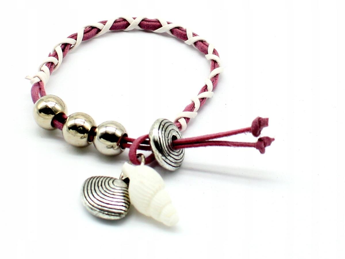Купить браслет с MUSZELKAMI ракушки shell белый роз на Otpravka - цены и фото - доставка из Польши и стран Европы в Украину.