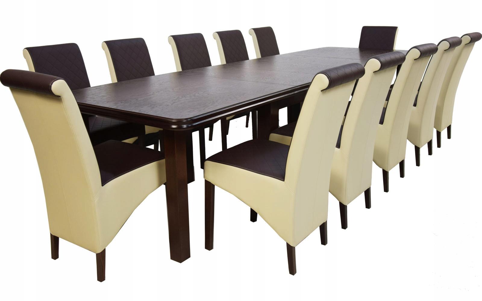 Купить Раздвижной СТОЛ к 4м и 12 КРЕСЕЛ, стульев ОРЕХ на Otpravka - цены и фото - доставка из Польши и стран Европы в Украину.