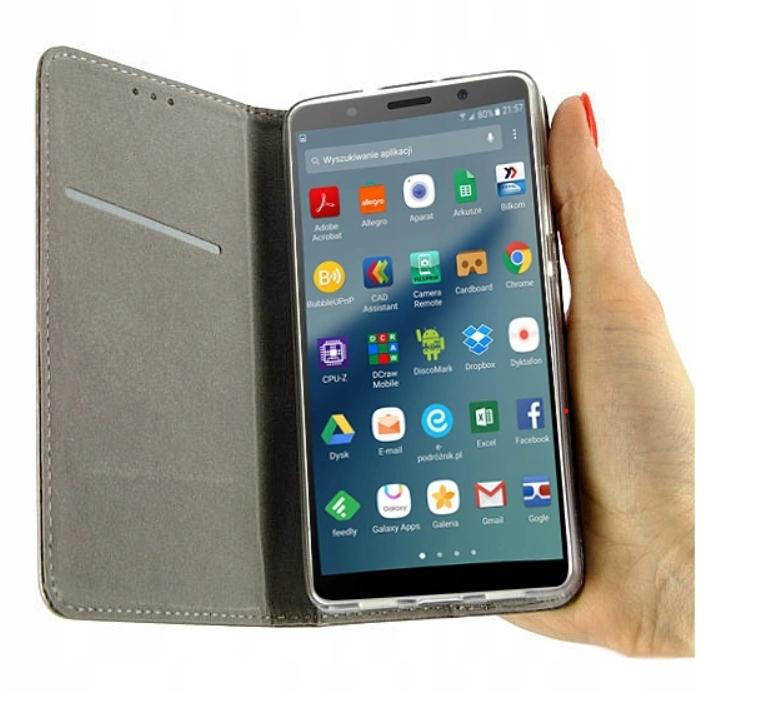Etui Portfel Magnet + Szkło do Samsung Galaxy A21S Kod producenta B12