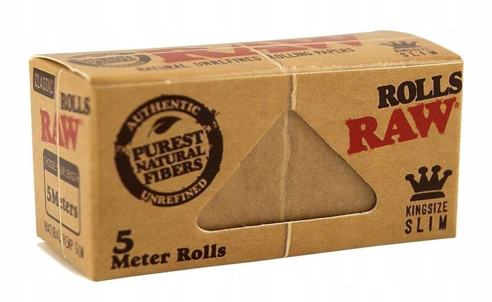 Bibułki bletki RAW Classic Rolls Slim 5m