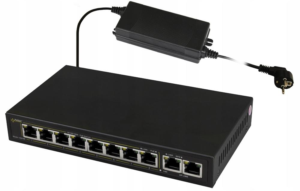 Купить Switch PoE Pulsar SG108-90W Gigabit ethernet, 8 портов PoE на Otpravka - цены и фото - доставка из Польши и стран Европы в Украину.