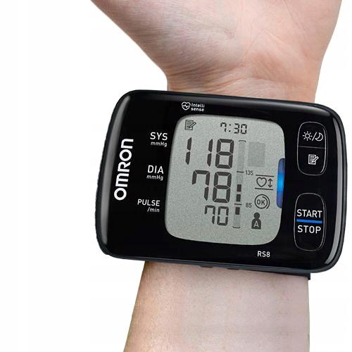 OMRON RS8 РАДІАТОР ЗАПИСУ АРИТІЯ NFC Місце вимірювання зап'ястя