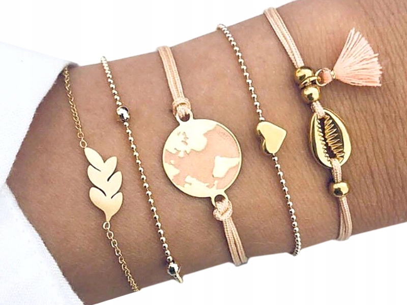 Item M191 Bracelet KIT Cord CONVERTIBLE has a Heart of Gold
