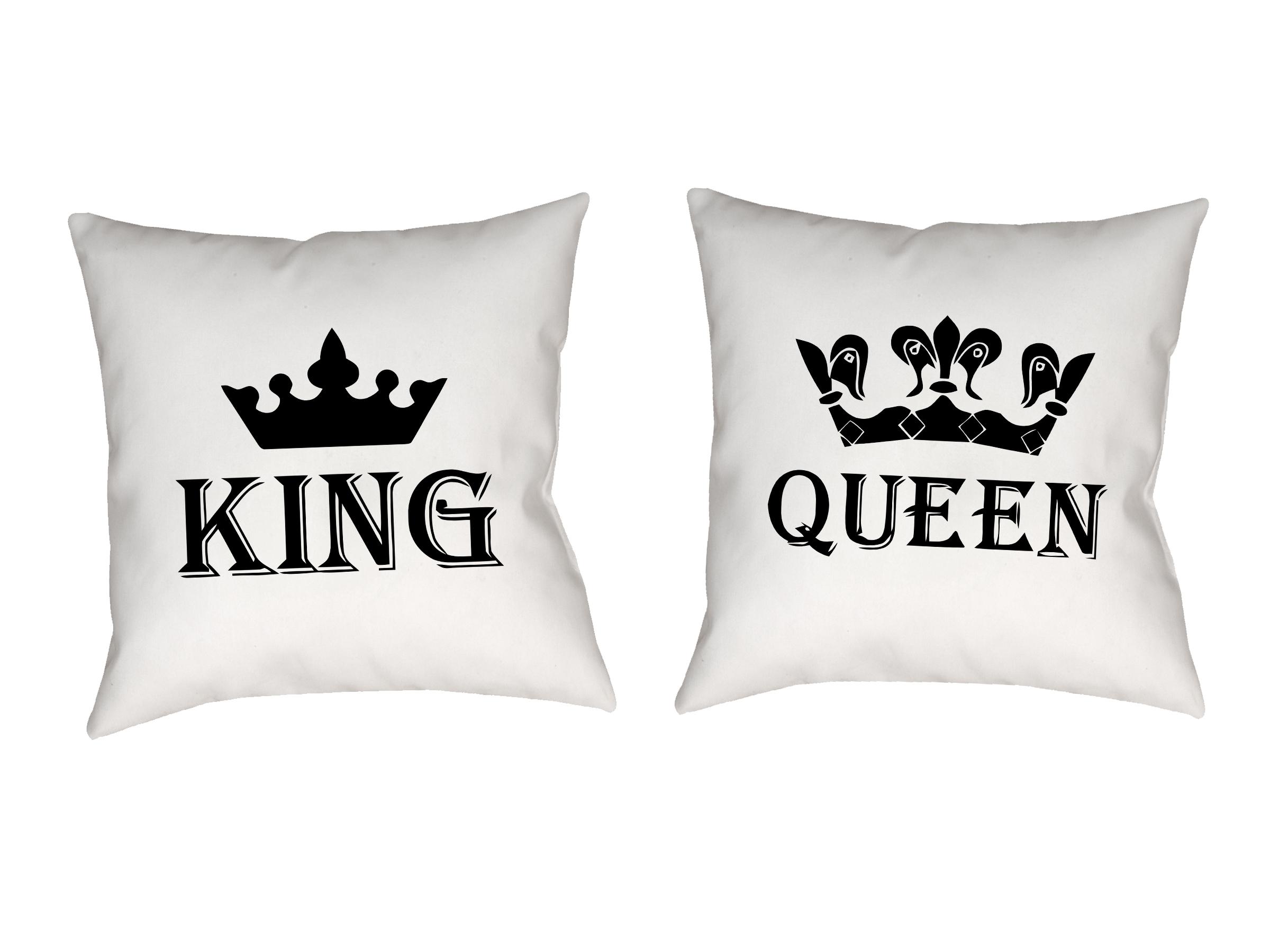 Poduszki Dla Par King Queen Prezent Duzo Wzorow 7018920926 Allegro Pl