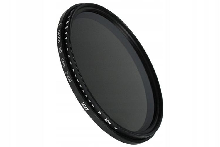 Úplný šedý filter nastaviteľný 55mm ND2-ND400