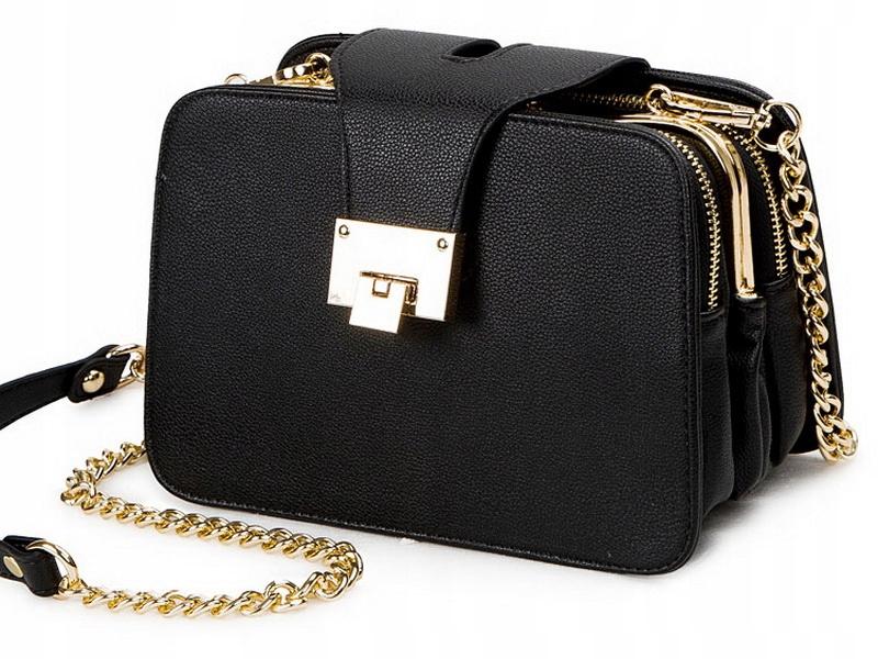 L50 Элегантная женская сумочка, Черная Емкость КУФЕРЕК
