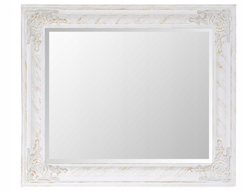 Zrkadlo visí v przecieranej biele rameno