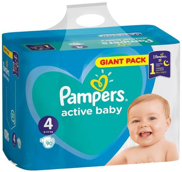 ПОДГУЗНИКИ PAMPERS ACTIVE BABY 4 90 шт 9-14 кг