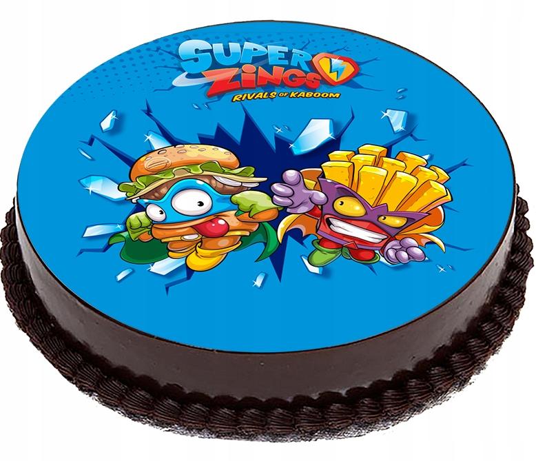 OPŁATEK NA TORT SUPER ZINGS Figurki koło 20cm