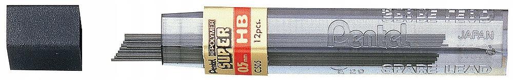Grafický stylus pre ceruzku Pentel 0.5mm HB 12ks