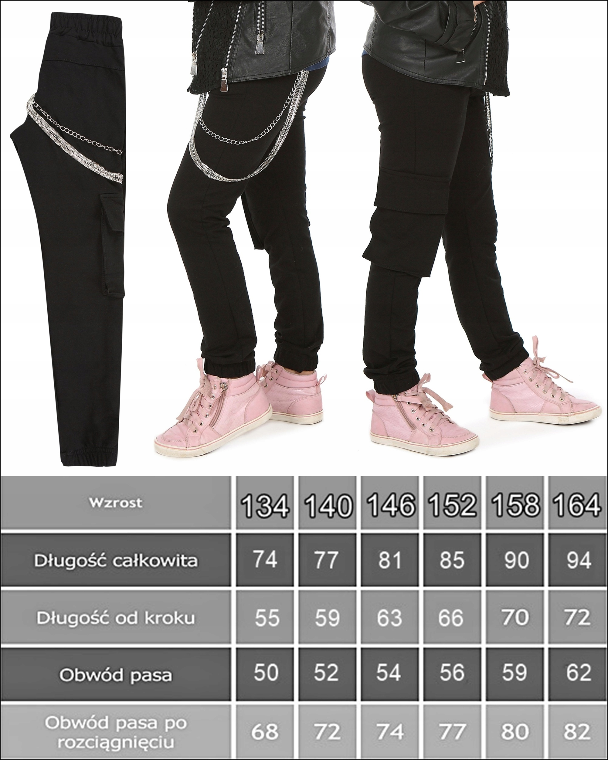 BOJÓWKI Spodnie dresowe ŁAŃCUCHY roz.146 Prod.PL