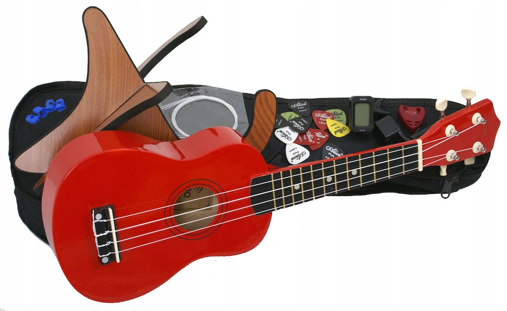 Item WOODEN UKULELE ECHO + MEGA ACCESSORY PACK