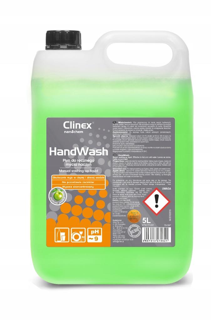 CLINEX HANDWASH Жидкость для мытья посуды 5Л