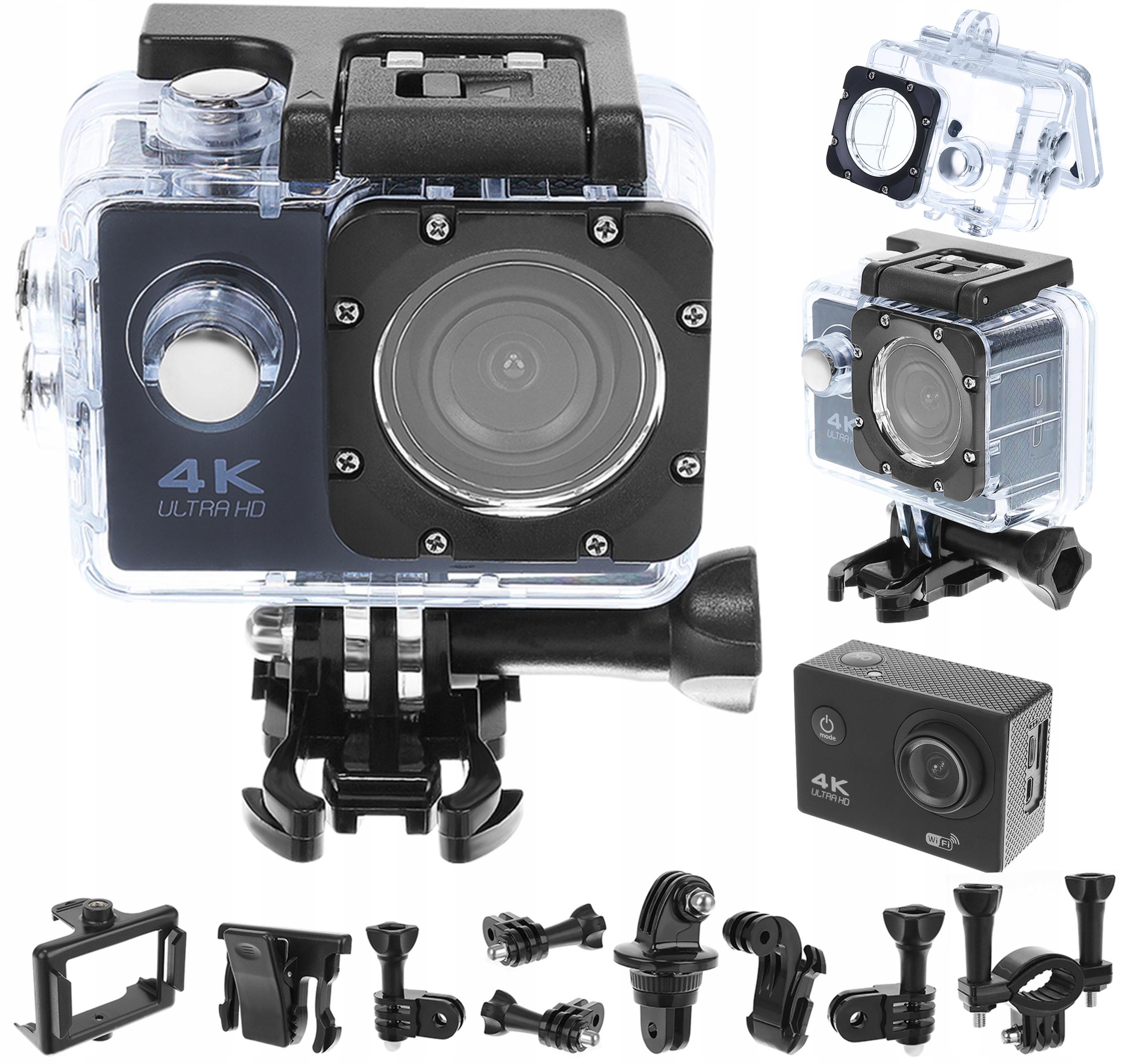 Спортивная камера 4K. Водонепроницаемая камера Wi-Fi SD64GB