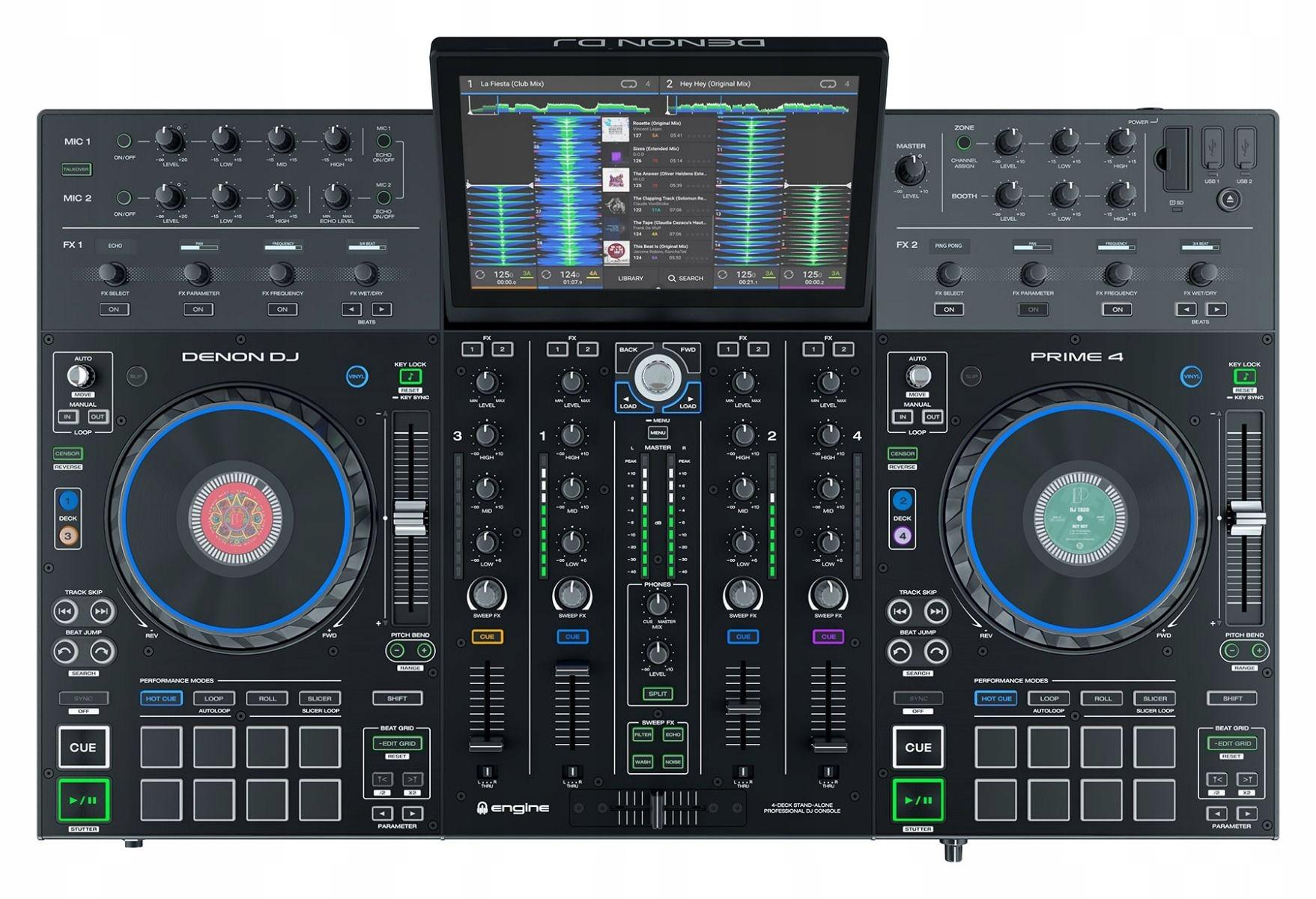 Denon DJ Prime 4 Channel Sertato DJ Regulátor