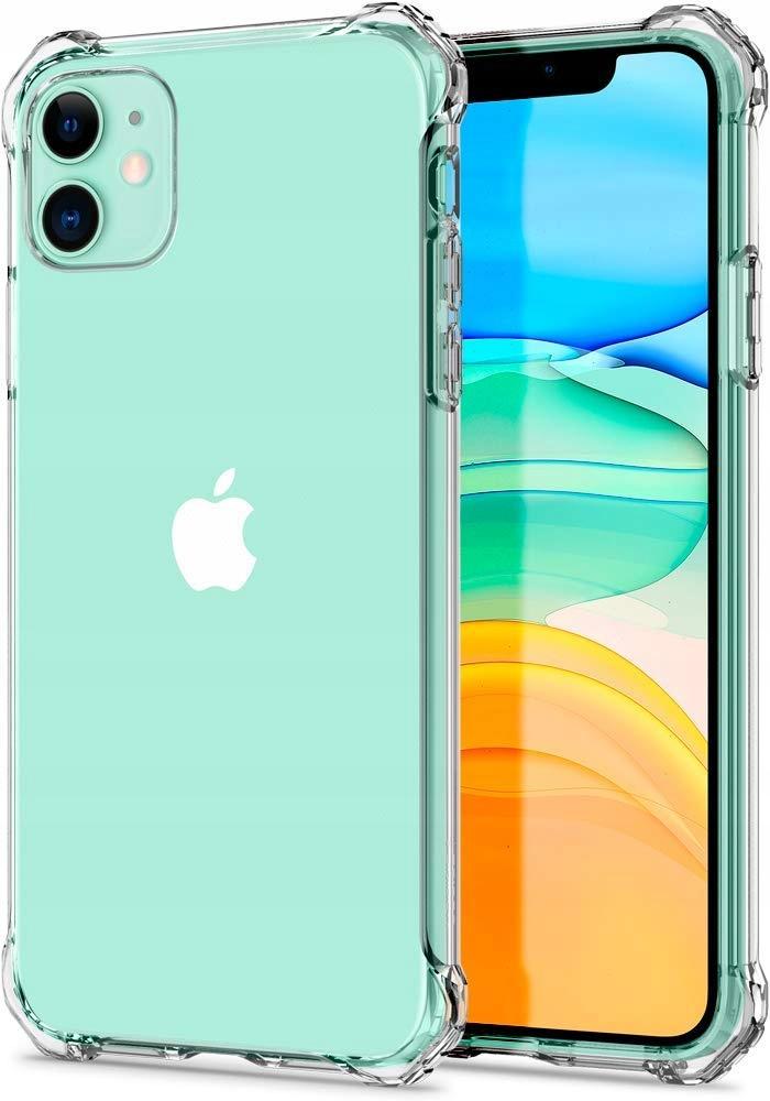 ETUI CLEAR CASE GUMA + SZKŁO 9H do iPhone 11 Dedykowany model iPhone 11