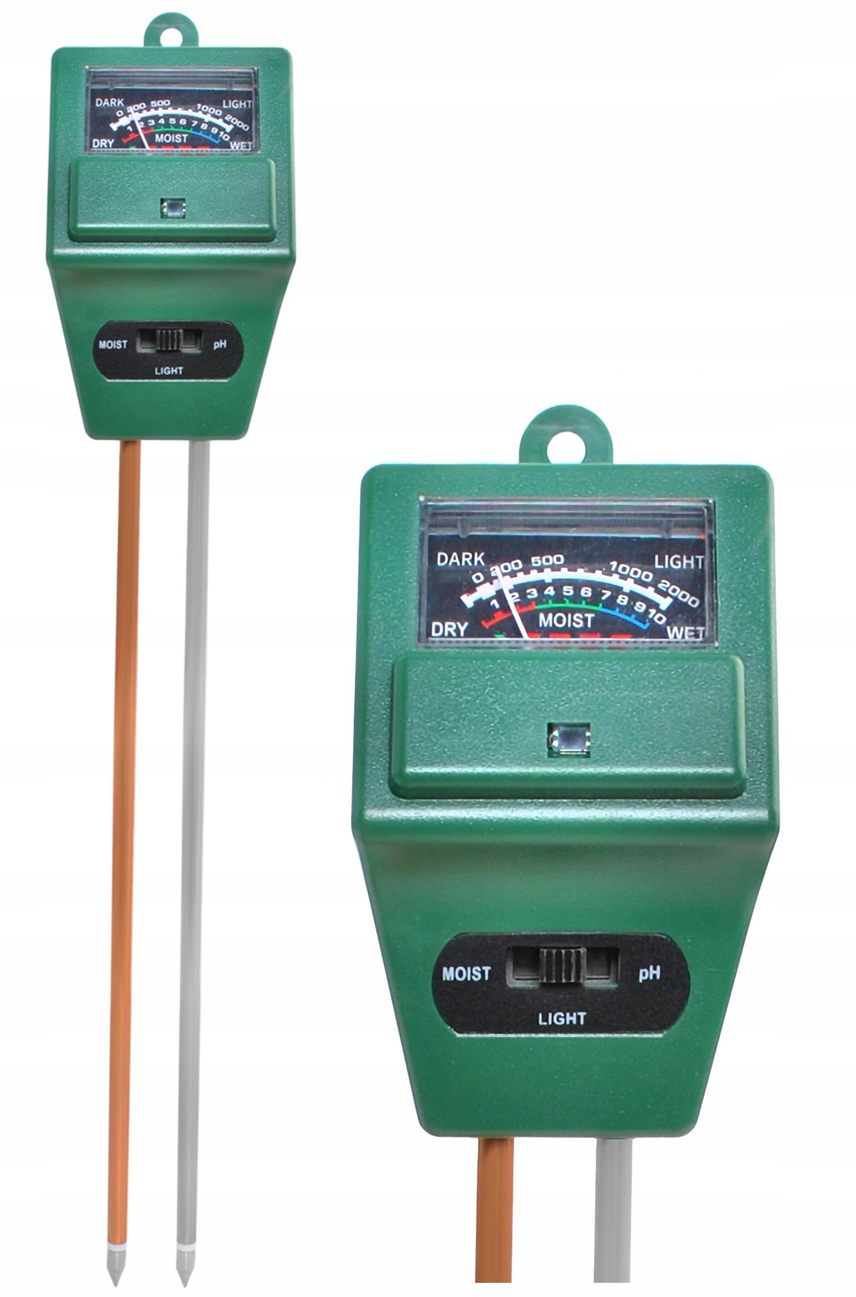 Kwasomierz Miernik Tester pH Gleby Ziemi Światła