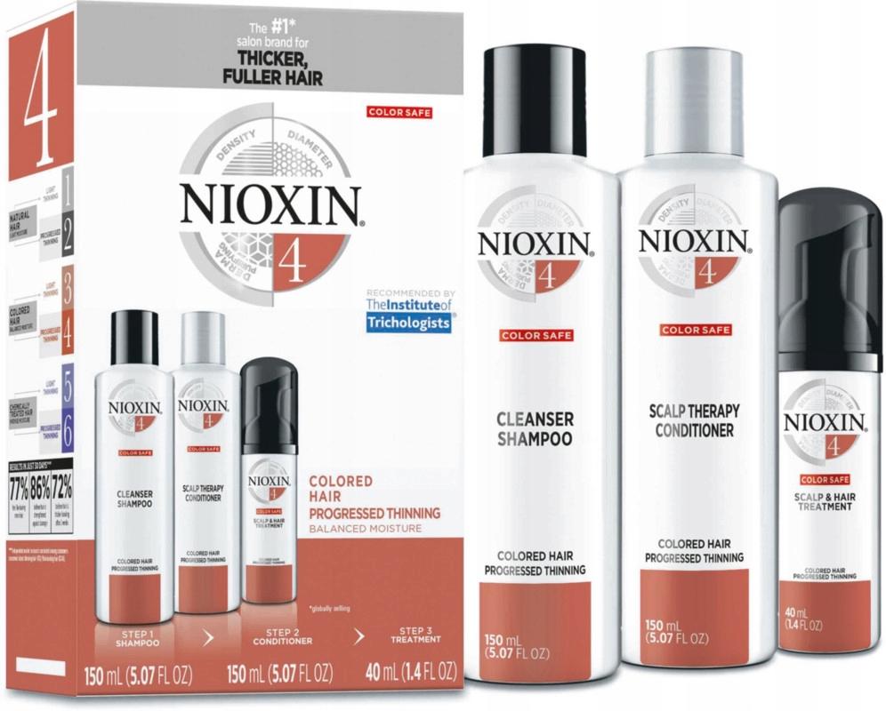 NIOXIN 4 КОМПЛЕКТ ВОЛОСЫ СИЛЬНО ПРОРЕЖЕННЫЕ КРАШЕНЫЕ доставка товаров из Польши и Allegro на русском
