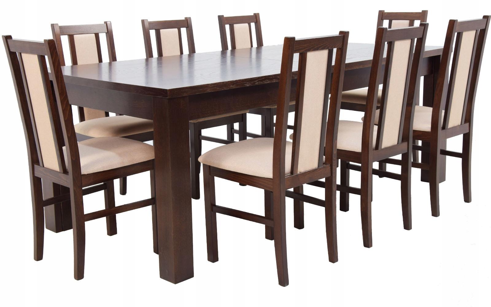 Купить БОЛЬШОЙ раздвижной стол 440 и 8 деревянных СТУЛЬЕВ на Otpravka - цены и фото - доставка из Польши и стран Европы в Украину.