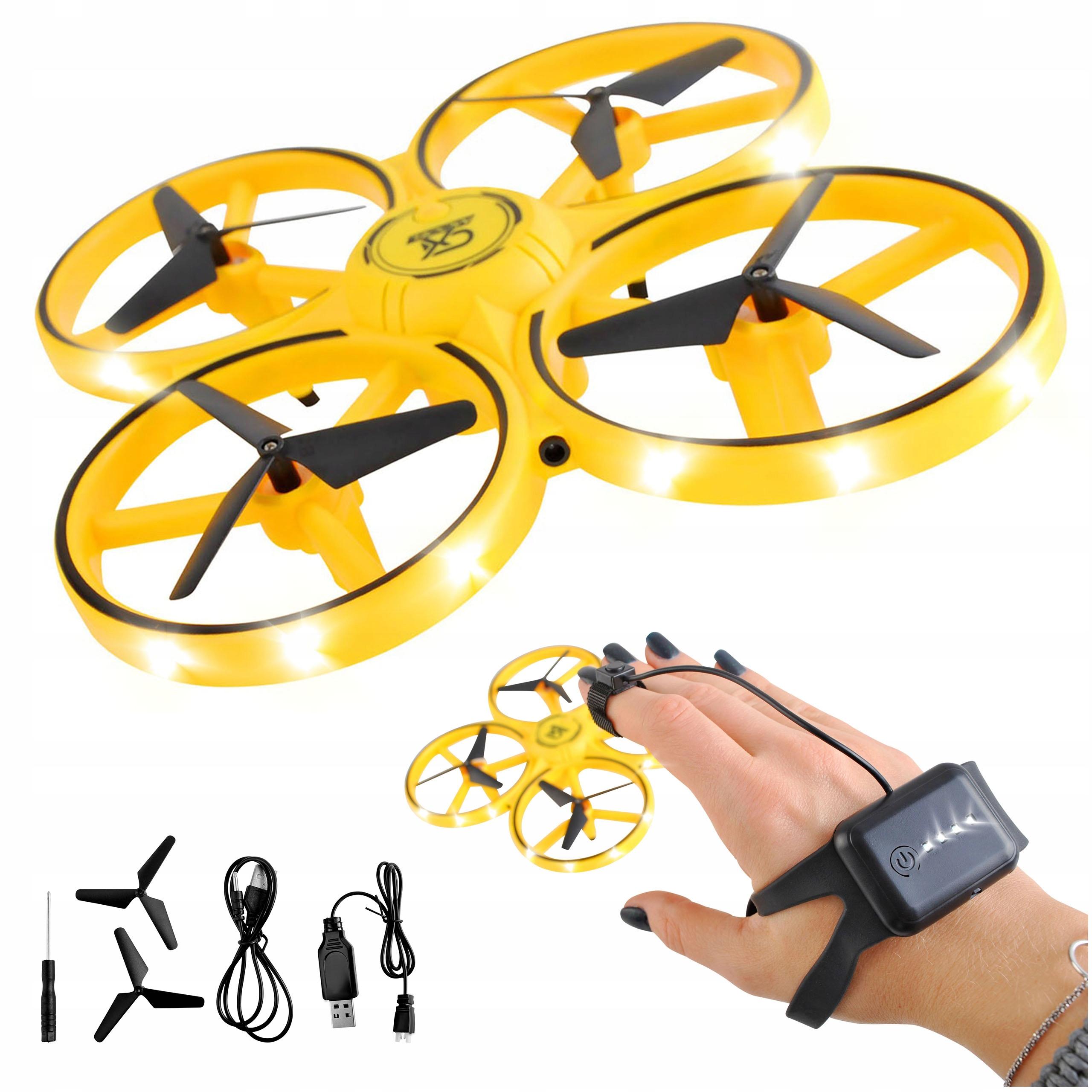 Dron Sterowany Ręką LED Lewitujący Mini Ufo Osłony