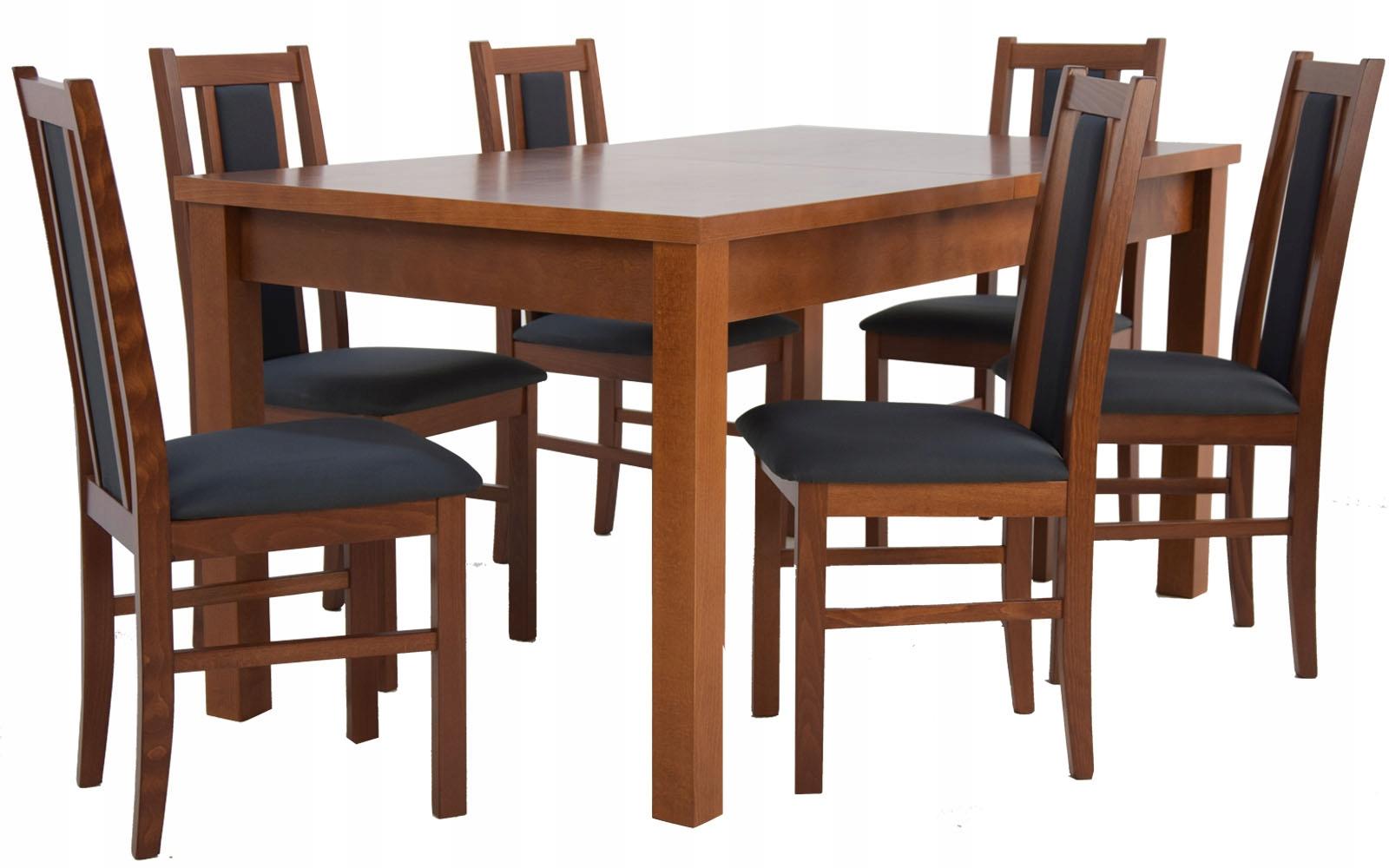 Купить Деревянный набор ДЛЯ КУХНИ ГОСТИНОЙ обеденный стол и 6 СТУЛЬЕВ на Otpravka - цены и фото - доставка из Польши и стран Европы в Украину.