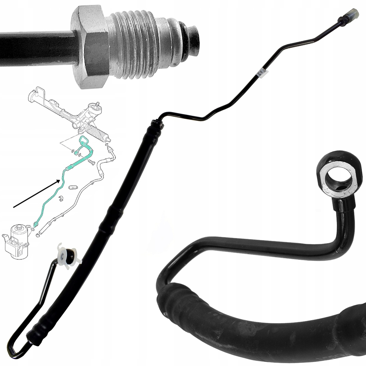 кабель шланг насосы гидроусилителя trw skoda fabia i
