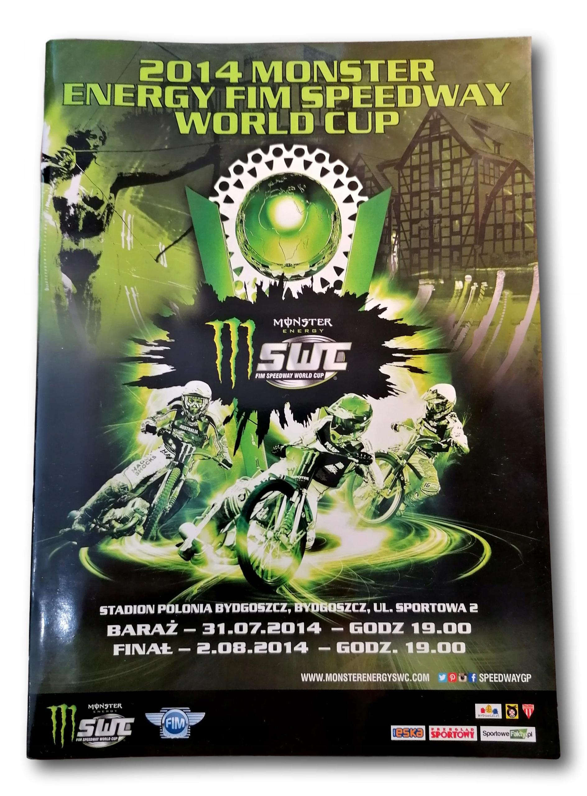 Speedway Program Monster Energy FIM Speedway 2014