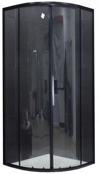 MEXEN RIO KABINA PRYSZNICOWA PÓŁOKRĄGŁ 80x80 BLACK