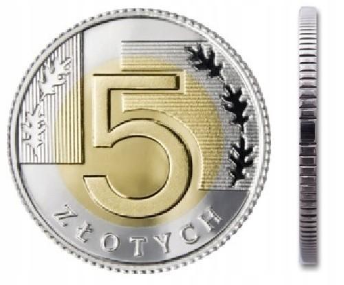 Монета 5 злотых 2021 монетный двор