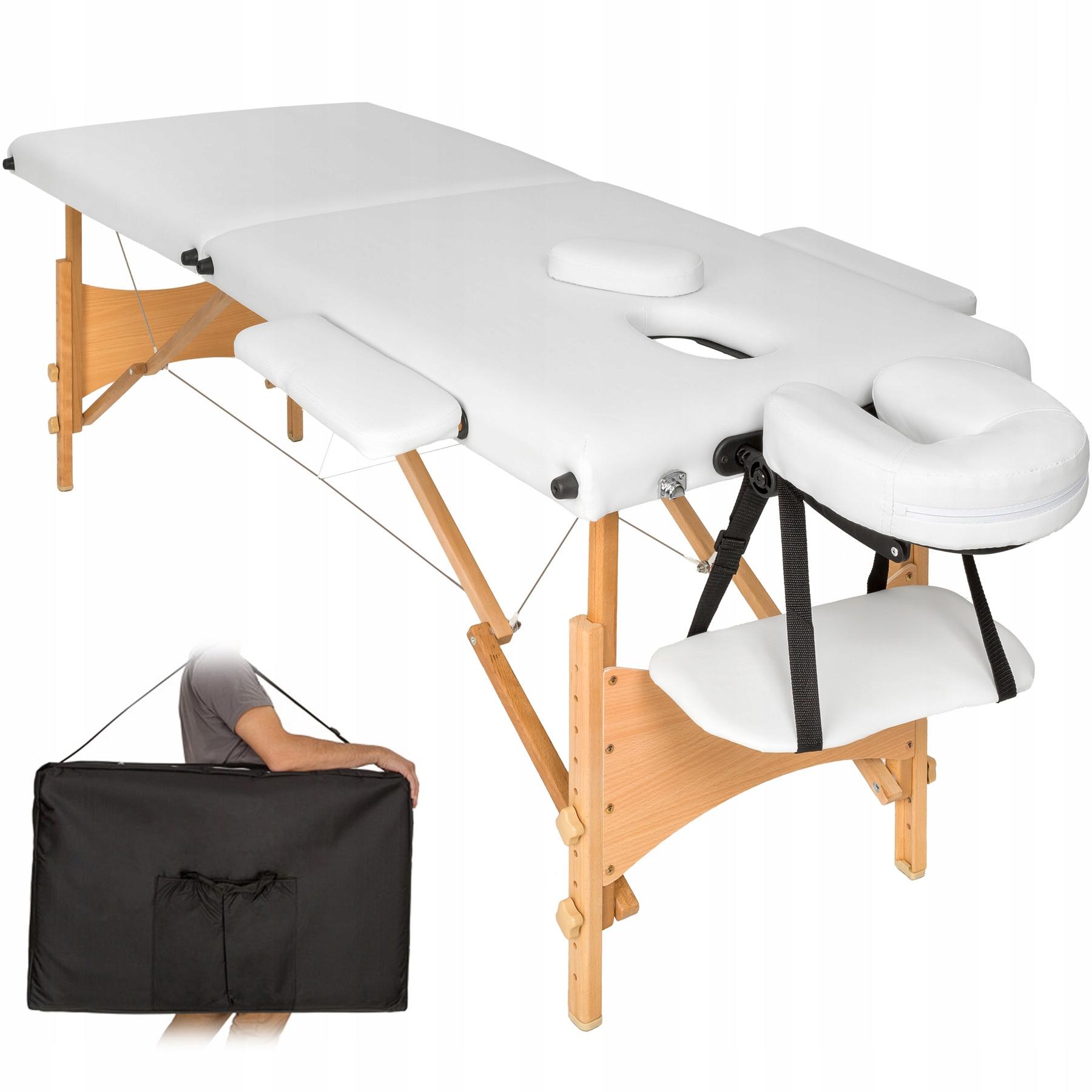 Łóżko Stół do Masażu BIAŁY 2 segmenty 401464