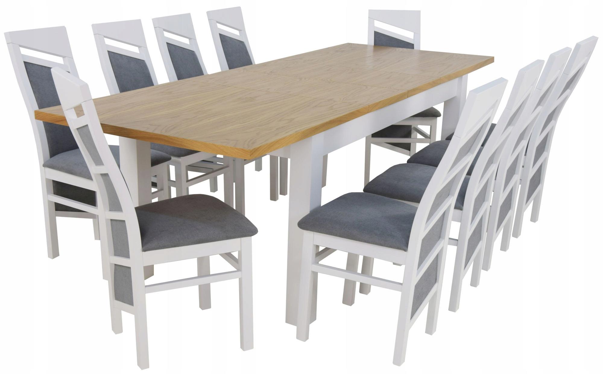 10 Stoličiek + Stôl 90x170/250 Dyha Dub Prírodný