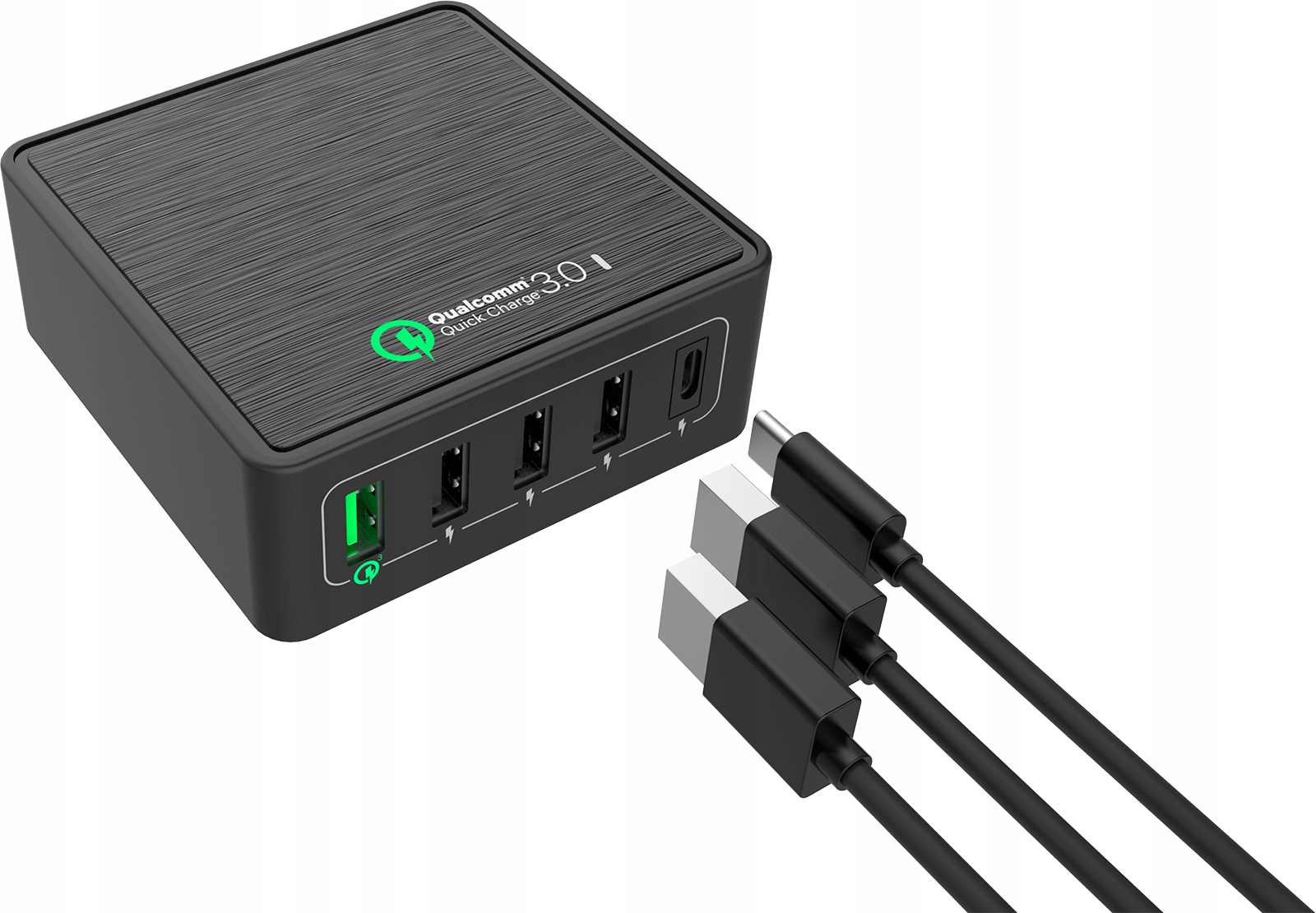 Ładowarka sieciowa 5x USB QC 3.0+3xUSB+type C 40W
