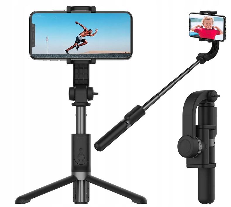 Gimbal Selfie Stick Statyw Pilot Bluetooth Tripod