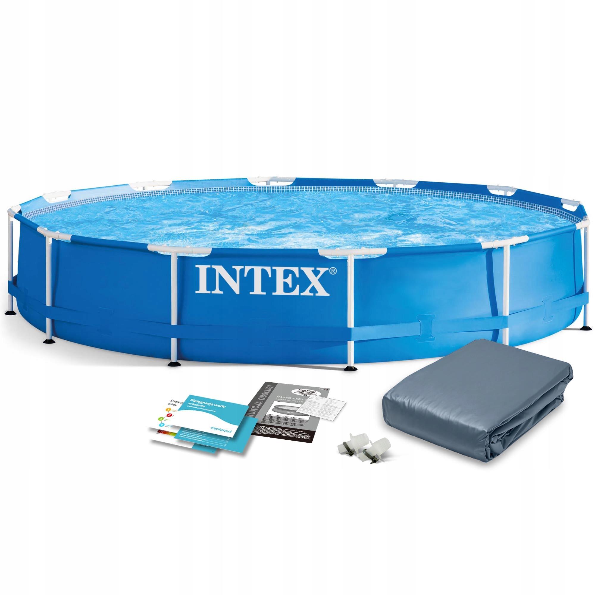 Basen Ogrodowy Stelazowy Intex 366x76 6w1 Pokrywa 8311806777 Allegro Pl