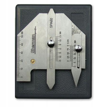 Sherman Analógový zvarový merač SPA-60 nehrdzavejúci