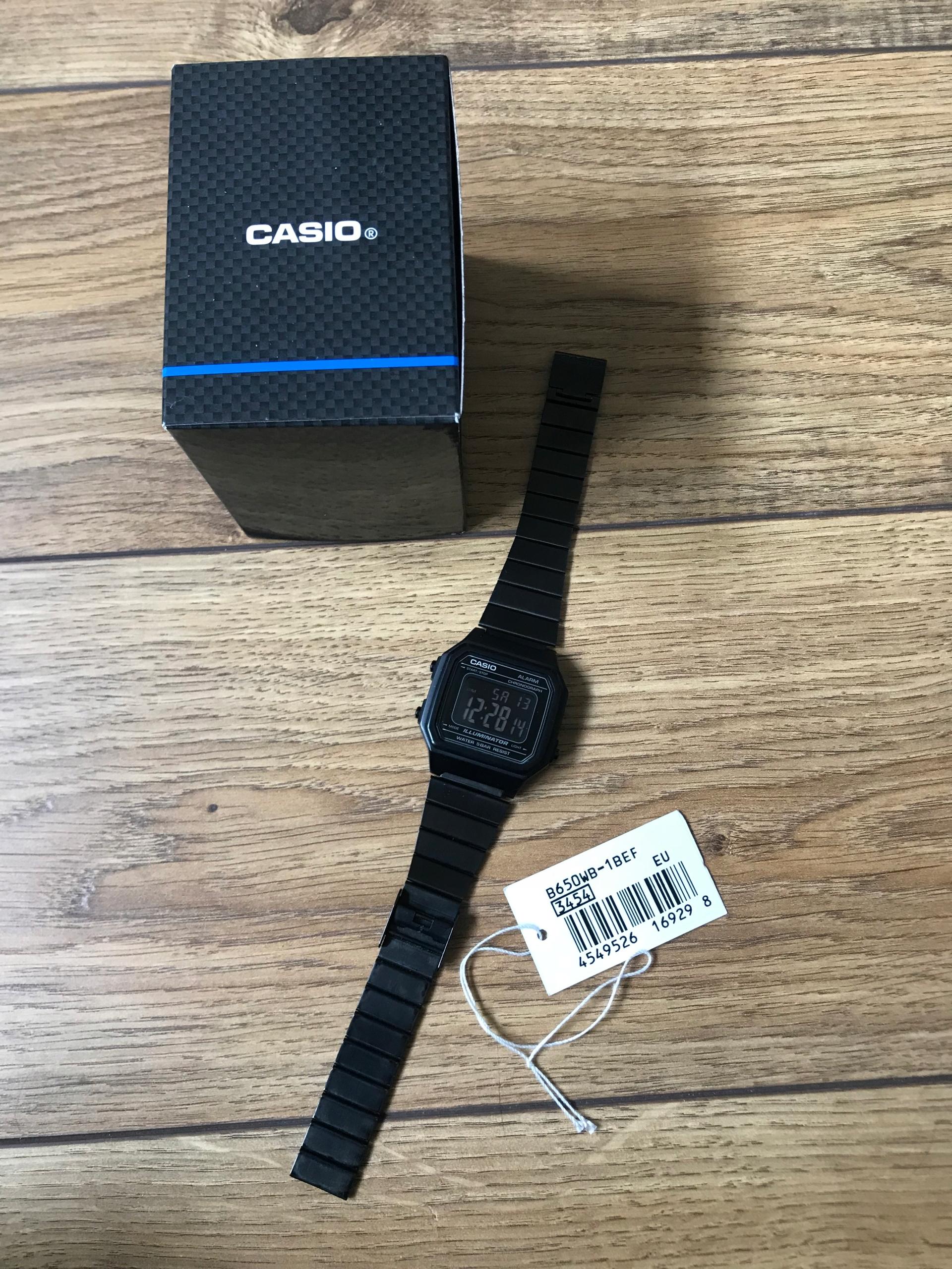 Casio czarny zegarek B650WB-1BEF