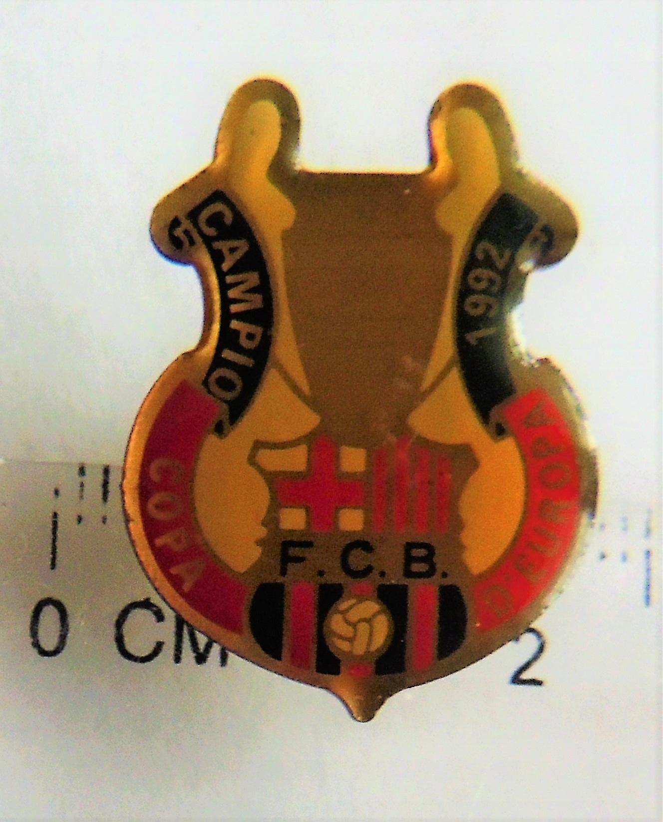 FC Barcelona oficjalna odznaka Mistrz Europy 1992