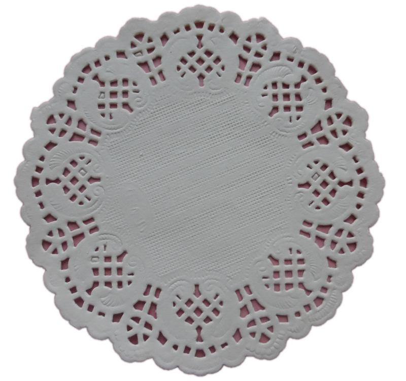 Serwetki Papierowe Ażurowe Pod Ciasto 9cm 100szt
