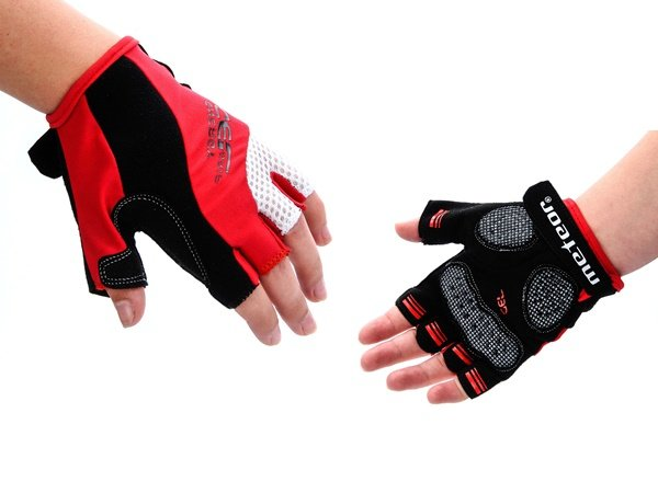 Rękawiczki rowerowe żelowe Meteor BX-4 RED S