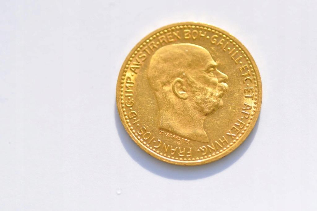 10 Koron, Austria 1911r. Złoto