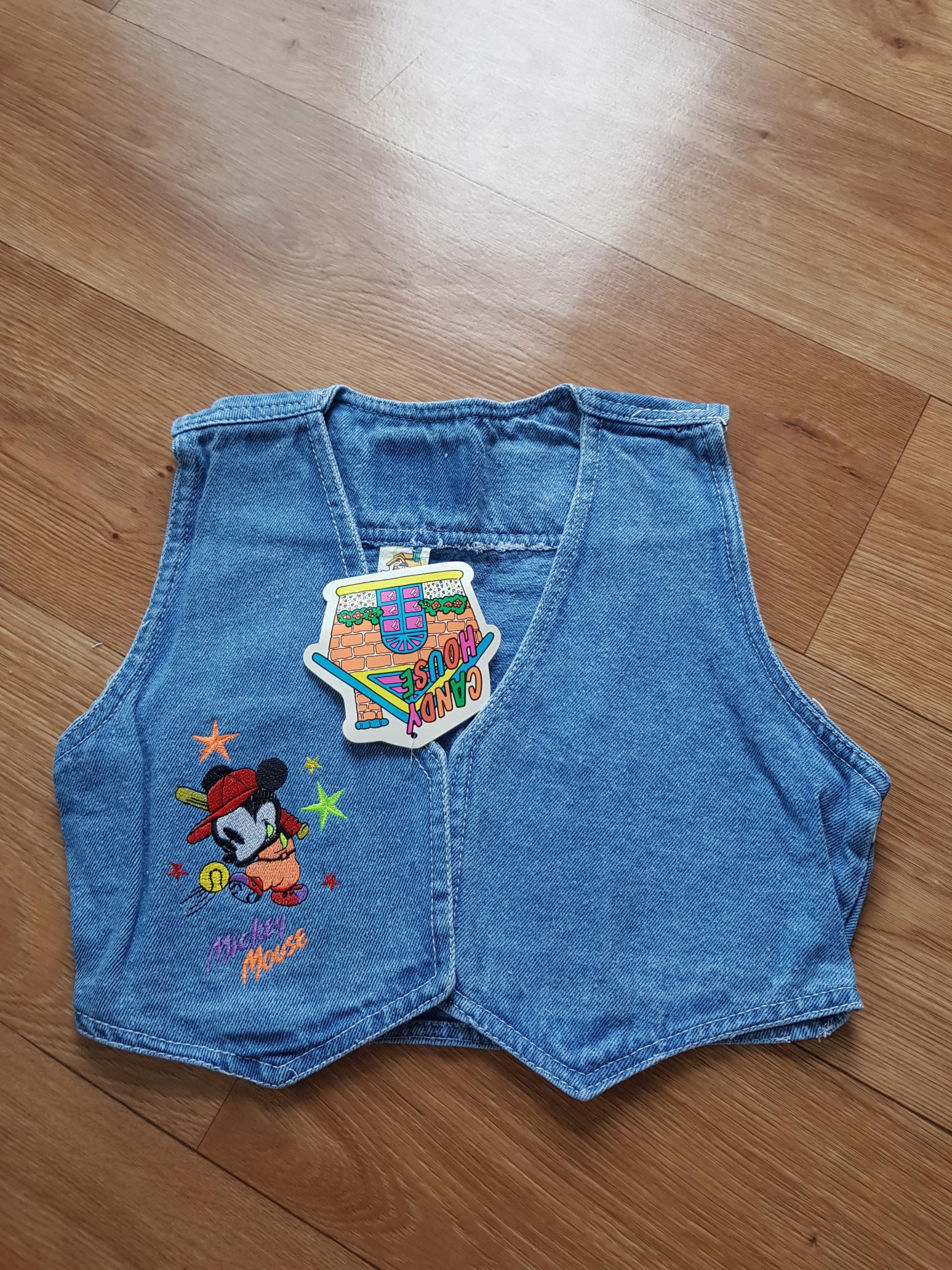 Kamizelka bezrękawnik dziecięca jeans myszka miki