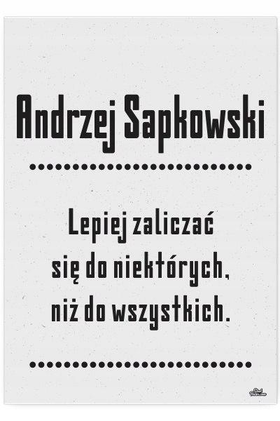 Blacha dekoracyjna / ozdobna Sapkowski : Rozmiar: