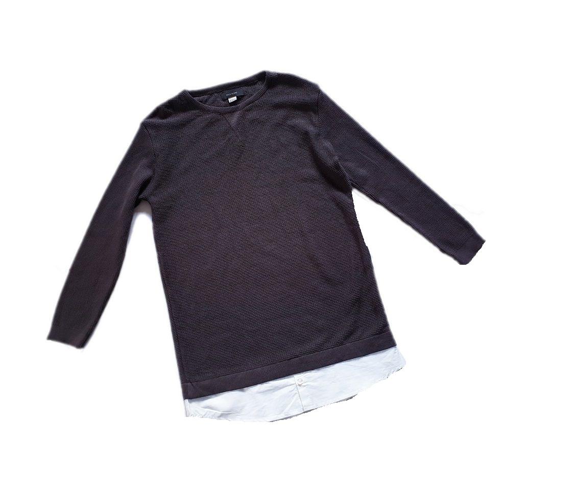 RIVER ISLAND sweterek z koszulą 140 cm 9-10 la
