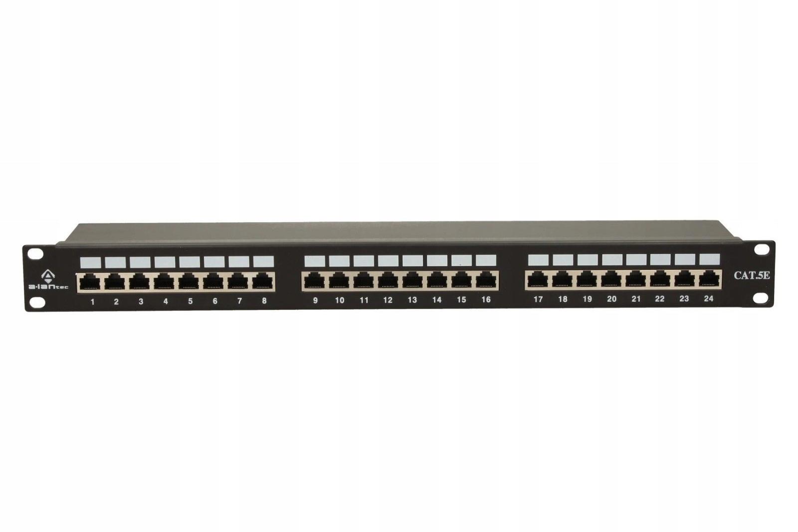 ALANTEC Patchpanel FTP 24 porty kat 5e pełny
